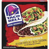 Taco Bell Home Originals Soft Taco Dinner Kit, 16.35-Ounce Boxes (Pack of 6)