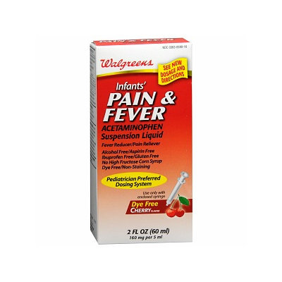 Walgreens Acetaminophen 160Mg Infant Dye Free Cherry Suspension