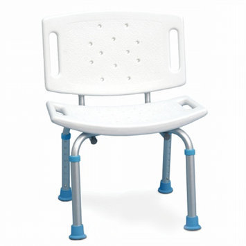 AquaSense Adjustable Bath Chair with Non-Slip Seat and Backrest
