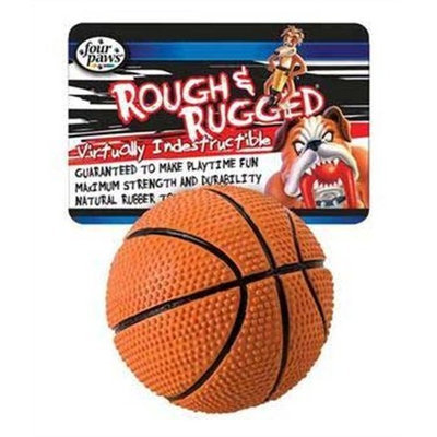 Four Paws Rough and Rugged Basketball Tug Dog Toy