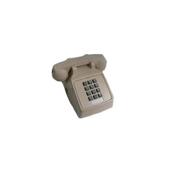 Cortelco 250044VBA20MD Standard Phone - Ash - Corded - 1 x Phone Line - Yes