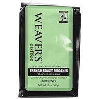 Weaver's Coffee Tea Weaver's Coffee and Tea, French Roast Organic Ground Coffee, 12-Ounce Bags (Pack of 2)