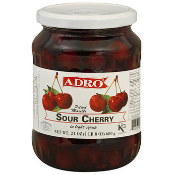 Adro Pitted Morelo Sour Cherry In Light Syrup