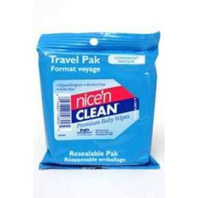 USA Wholesaler- 4899942-Nice n Clean Premium Baby Wipes Travel Pak Case Pack 36