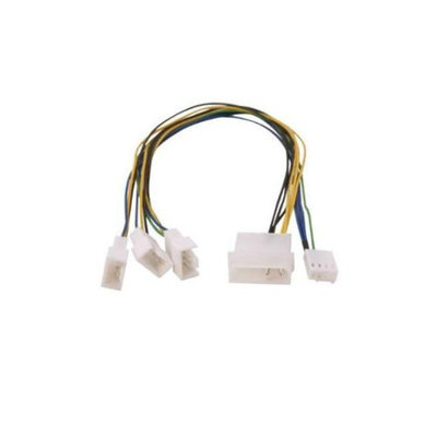 Evercool 3 PWM Fans Cables - Single PWM Header, 30 cm cable length, Copper, 3x 4pin PWM (one w/RPM feedback for motherbo