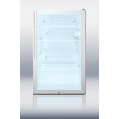 Summit SCR450L7HVADA 4.1 Cu. Ft. Stainless Steel Undercounter Compact Refrigerator
