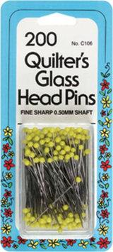 W H Collins Inc. Dritz 200/Pkg Glass Head Pins - W H COLLINS INC.