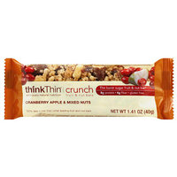 thinkThin Cranberry Apple & Mixed Nuts Crunch Bars
