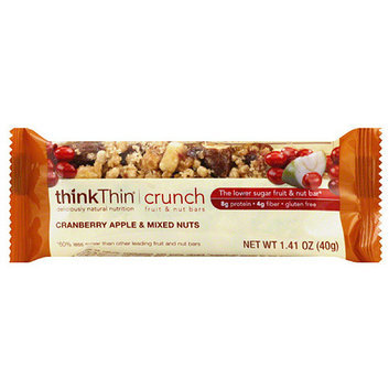thinkThin Cranberry Apple & Mixed Nuts Crunch Fruit & Nut Bars