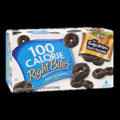 100 Calorie Right Bites Mini Fudge Stripes Dark Chocolate Cookies - 6 CT
