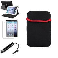 Insten iPad Mini 3/2/1 Case, by INSTEN Black 360 Leather Case Cover+Mini Stylus/Protector for iPad Mini 3 2 1