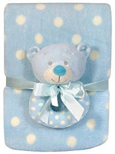 Stephan Baby Bear Rattle and Blanket Set