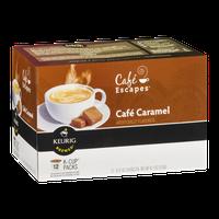 Cafe Escapes Keurig Brewed Cafe Caramel K-Cup Packs - 12 CT