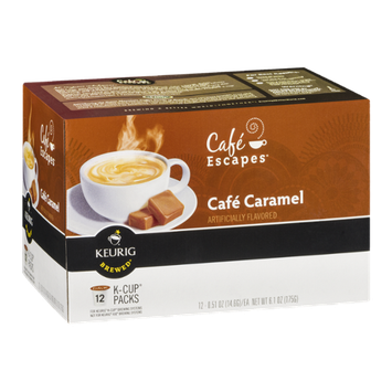 Cafe Escapes Keurig Brewed Cafe Caramel K-Cup Packs - 12 CT