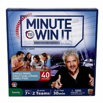 Mattel Minute To Win It Family Game, Ages 7+, 1 ea