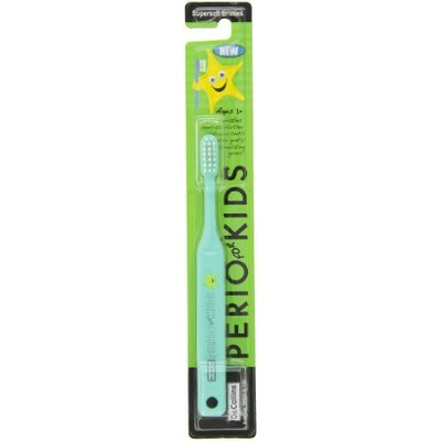 Dr.Collins Dr. Collins Perio Toothbrush for Kids, Green (Pack of 6)