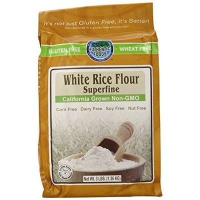 Authentic Foods Superfine White Rice Flour - 3lb