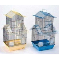 Prevue Pet Products BPV41730 2-Pack Parakeet Shanghai Pagoda House Style Cage, Jumbo, Colors Vary