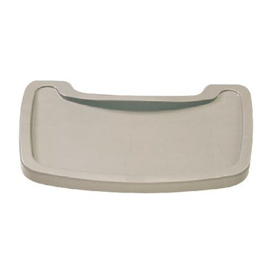 Rubbermaid Sturdy Microban Youth Seat Tray Plastic in Platinum