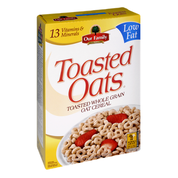 Our Family Toasted Oats Low Fat Oat Cereal