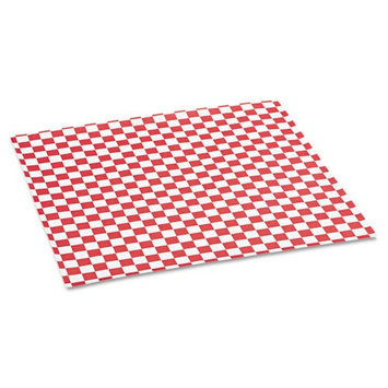 Packaging Dynamics Grease-Resistant Red Check Sheets