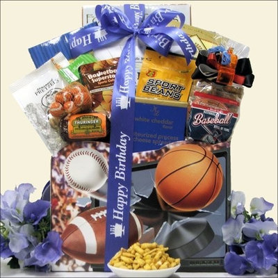 Greatarrivals Gift Baskets Armchair Athlete: Birthday Sports & Snacks Gift Basket