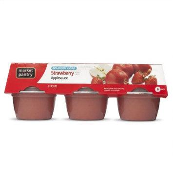 market pantry Market Pantry 6-pk. Strawberry Applesauce 4-oz.