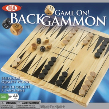 Alex Brands Ideal 37256BL Game On! Backgammon with Wooden Board and