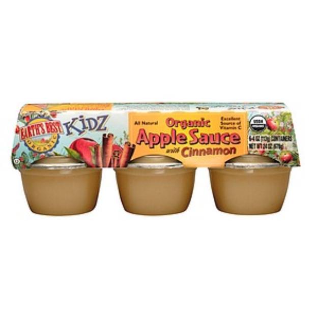 Earth's Best Organic Kidz Apple Cinnamon Sauce Cups