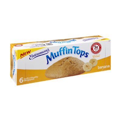 Entenmann's Banana Muffin Tops - 6 CT
