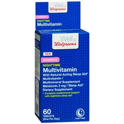 Walgreens Women's Nighttime Multivitamin + Sleep Aid, Tablets, 60 ea