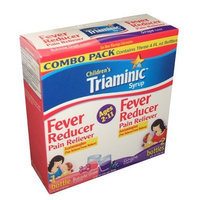 Children's Triaminic Fever reducer Acetaminophen Combination Pack 4 Ounce Bottle (Pack of 3)