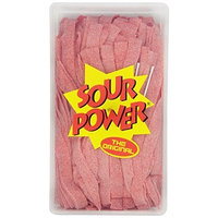 Sour Power Strawberry Belts, 150-Count Tubs, 42.3 Ounce, (Pack of 2)