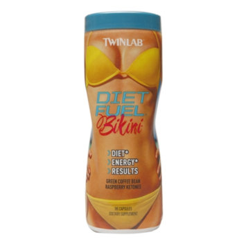 Twinlab Diet Fuel Bikini Green Coffee Bean & Raspberry Ketones, Capsules