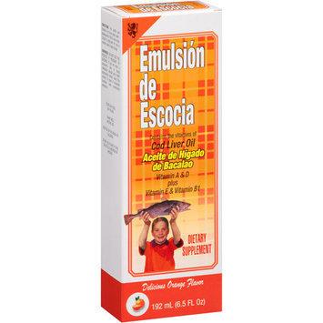 EMULSION ESCOCIA Emulsion De Escocia Orange Flavor Cod Liver Oil, 6.5 fl oz