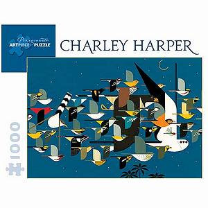 Charley Harper Mystery of the Missing Migrants Puzzle 1000 pcs  Ages 12 and up