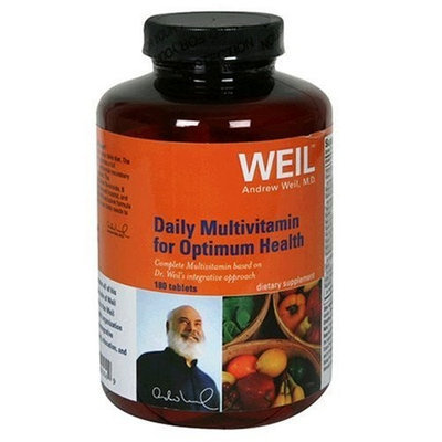 Weil Nutritionals Weil Daily Multivitamin for Optimum Health, Tablets,180 tablets (Pack of 2)