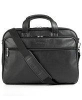 Kenneth Cole Reaction Manhattan Leather Double Gusset Laptop Brief