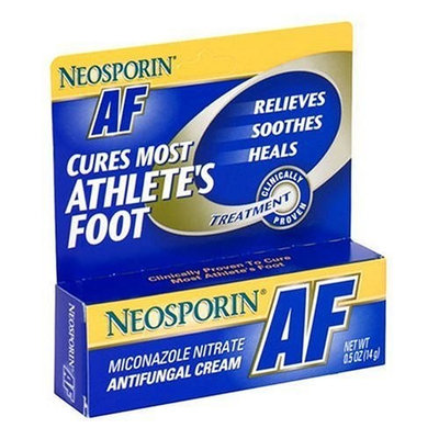 Neosporin AF Antifungal Cream for Athlete's Foot, 0.5-Ounce Tubes (Pack of 3)