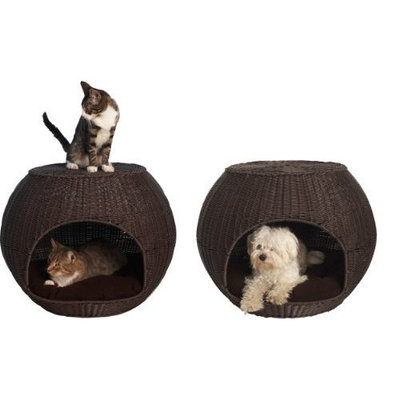 The Refined Canine's Igloo Pet Bed with Indoor Cushion