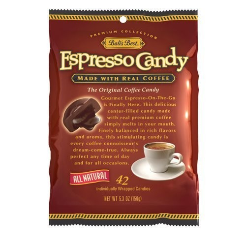 Fusion Gourmet Bali's Best Espresso Coffee Candy - 42 pieces - 5.3 Oz