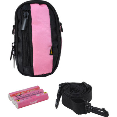 ProHT Inland Pink Pro Camera Case Kit, Includes 3 AAA Batteries