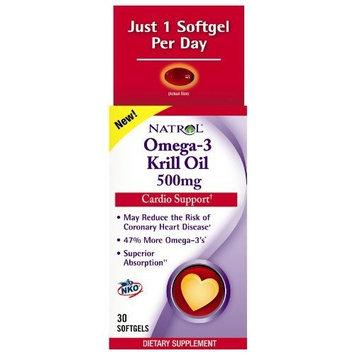 NATROL Omega-3 Krill Oil 500 mg Sgel, 30 Count