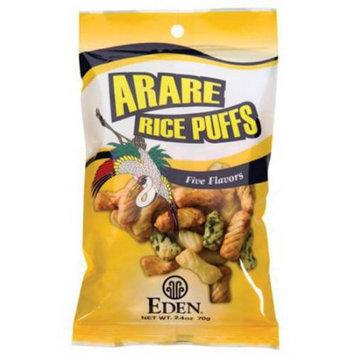 Eden Organic Eden 5 Flavor Arare Rice Puffs, 2.4 Ounce (Pack of 6)
