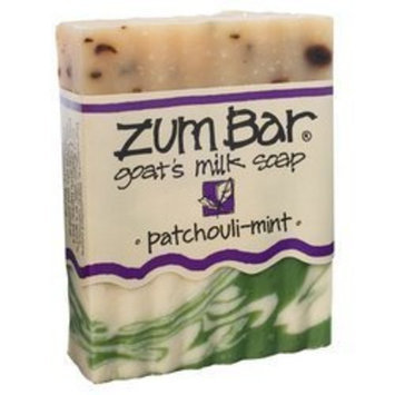 Indigo Wild: Zum Bar Goat's Milk Soap, Patchouli & Mint 3 oz (3 pack)