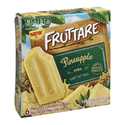 Fruttare Ice Bars Pienapple - 6 CT