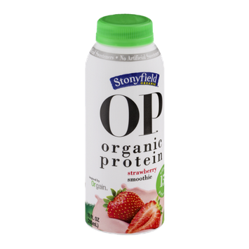 Stonyfield Organic OP Organic Protein Smoothie Strawberry