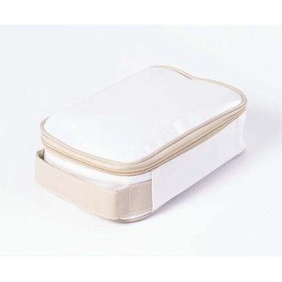Clava 885016WHITE Wellie Small Toiletry-Cosmetic Case - White