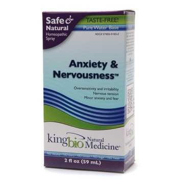 Natural Medicine by King Bio Anxiety and Nervousness