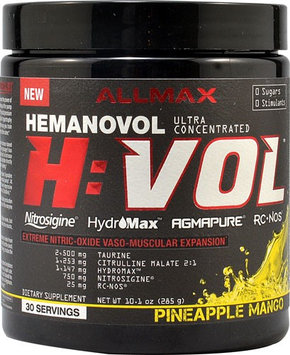 ALLMAX Nutrition Hemanovol H:VOL Nitric Oxide Pineapple Mango 30 Servings
